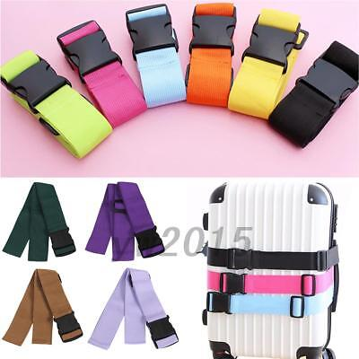 2Pcs Useful Adjustable Travel Luggage Suitcase Buckle Tie Strap Packing Belt