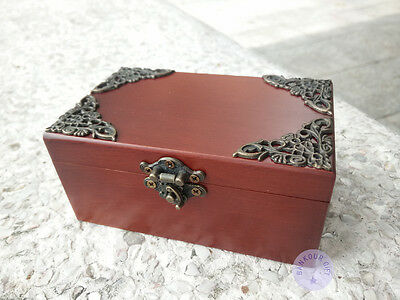 """Anastasia """"Once Upon a December"""" Wooden Sankyo Music Box With an Antiqued Lock"""