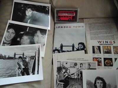 BEATLES PAUL McCARTNEY  WINGS PROMO LONDON TOWN FOLDER AND OTHERS SPANISH SET