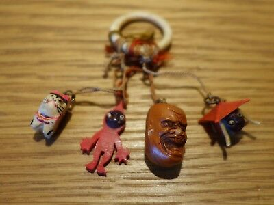 4 Vintage Japanese Kobe Charms Japan Collectable