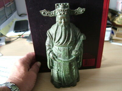 Japanese Bronze Figure. Ceremonial Dress, Flowing Beard.