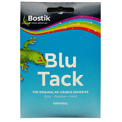 Bostik Original Blu Tack - Re-usable Adhesive - 65g Pack