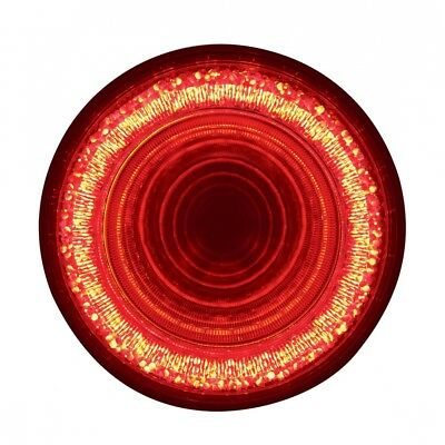 """24 LED 4"""" """"MIRAGE"""" Stop, Turn & Tail Light - Red LED/Clear Lens"""