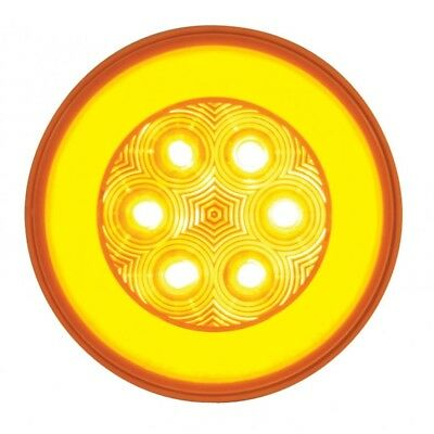 """1 Red Led 4"""" """"Glo"""" S/T/T Light - Clear Lens"""
