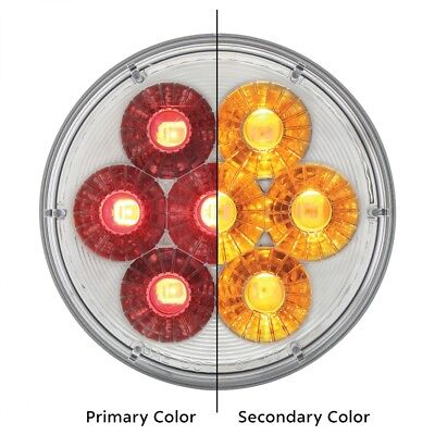 """14 Led S/T/T & P/T/C Dual Color 4"""" """"Double Fury"""" Led Light - Red/Amber"""