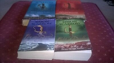 4 x Simon Scarrow books - Wellington and Napoleon - novels