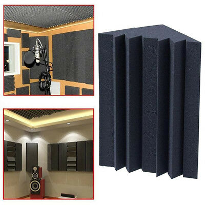 Acoustic Corner Sponge Black Bass Trap Soundproof Foam 12cm x 12cm x 25cm Na