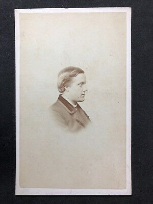 Victorian Carte De Visite CDV Gentleman Mayland Cambridge C1862 Profile