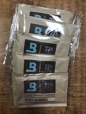 Boveda 72% 60 Gram  2 Way Humidification 5 Pack-FREE SHIPPING