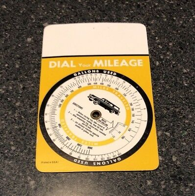 NOS Dial Your Mileage Advertising Wheel Printed In USA Vintage