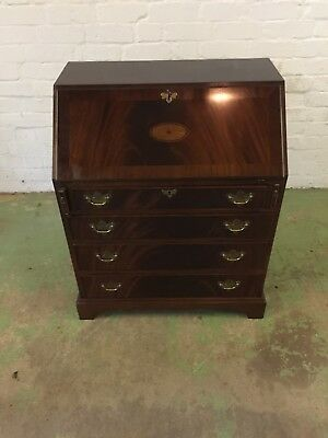 Old Reproduction Writing Desk With Inlays