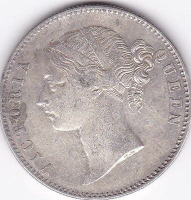 1840 British India Queen Victoria One Rupee Silver Coin Divided Type. Lot3