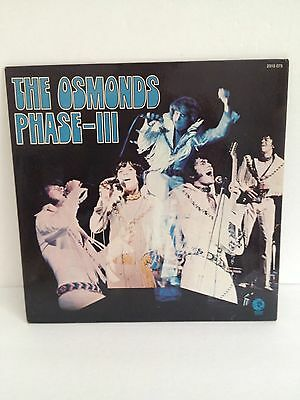 The Osmonds Phase-III 1972 Vinyl Album Record
