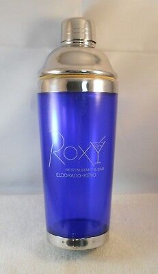Roxy Restaurant Bar Eldorado-Reno Cocktail Shaker Cobalt Blue Stainless Top