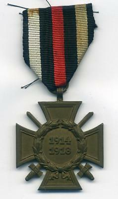 A WWI German Cross of Honour with Swords  for Bravery &  War Service 1914-18