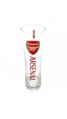 Arsenal FC Official Football Gift Tall Beer Pint Glass  Fathers Day