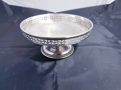 An Antique Silver Plated Sweet Dish With Elegant Patterns By Barker Ellis