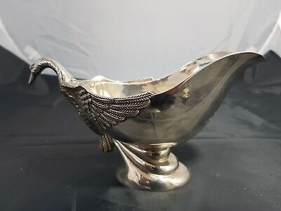 A Beautiful Silver Plated Swan Neck Sauce Boat.very ornate.