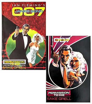 "James Bond 007 #1 & 2 (1988 Eclipse Comics) by Mike Grell ""Permission to Die"" NM"