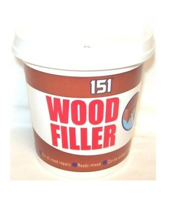 Tub Of White Wood Filler Ready To Use For All Wood Repairs Paintable 600g