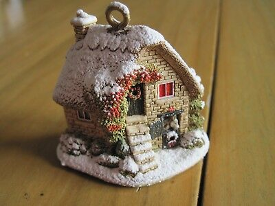 Lilliput Lane Christmas Ornament The Donkey Stable 2008 #L3086 No Box or Deed