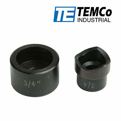 """TEMCo 3/4"""" Conduit Punch and Die For Hydraulic Knock Out Driver"""