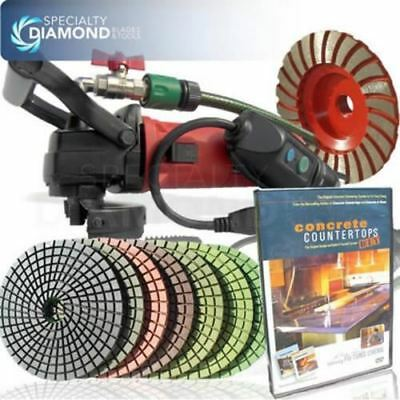 Electric Concrete Cement Diamond Wet Polishing Grinding Kit Polisher Buffer