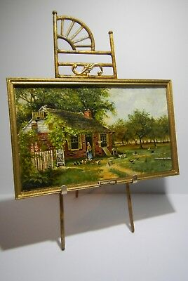 Dollhouse Miniature Artist GEORGE SCHLOSSER Painting 1983