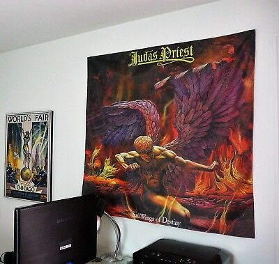 JUDAS PRIEST Sad Wings of Destiny HUGE 4X4 BANNER fabric poster tapestry album