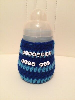 handmade crochet personalised baby bottle cover tommee tippee avent dr brown MAM