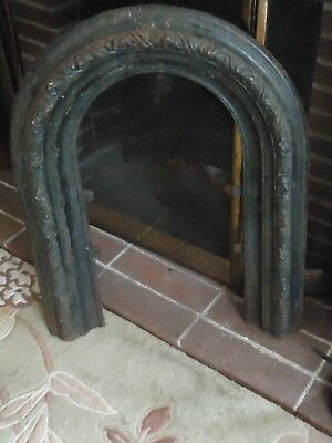 "Vintage Antique Decorative Cast Iron Fireplace Door Frame 30"" x 24"""