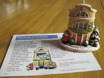Lilliput Lane Christmas Ornament Christmas at Lechlade 2011 #L3342 with Deed