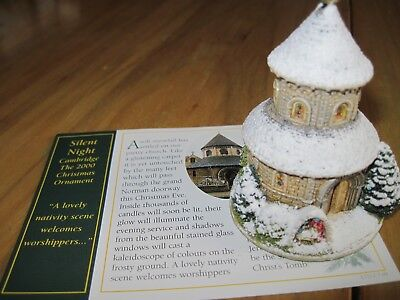 Lilliput Lane Christmas Ornament Silent Night 2000 #L2318  with Deed