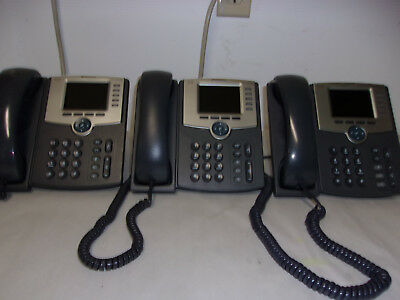 Lot Of 3 Cisco Spa525G2 Ip Phones Tested And Reset