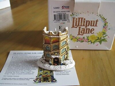 Lilliput Lane Ornament Heading Home for Christmas 2012  #L3403 with Deed & Box