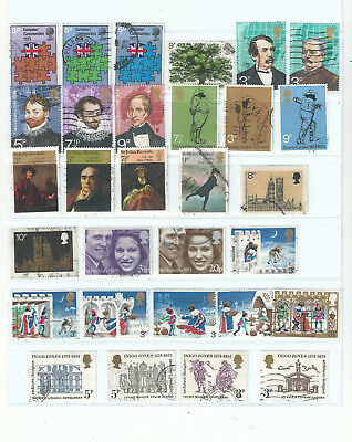 GB 1973 Commemoratives sets used as scan (ref a)