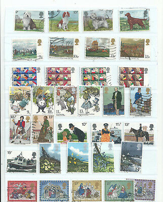 GB 1979 Commemoratives sets used as scan (ref a)