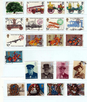 GB 1974 Commemoratives sets used as scan (ref a)