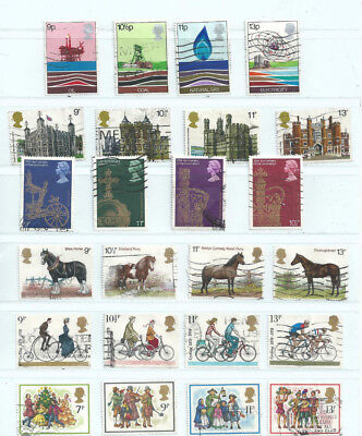 GB 1978 Commemoratives sets used as scan (ref a)