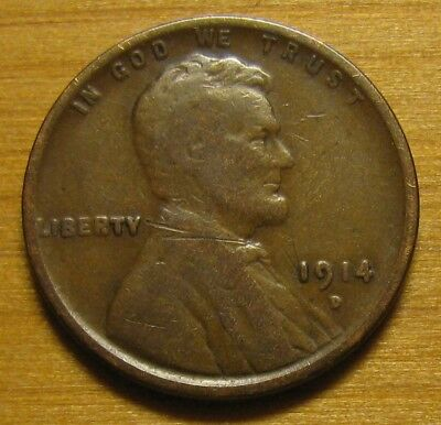 1914 D Lincoln Wheat Cent From Penny Collection