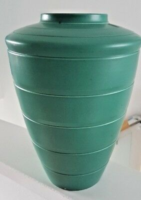 Large (11 Inch) Early Keith Murray Signed Green Wedgwood Art Deco Shoulder Vase