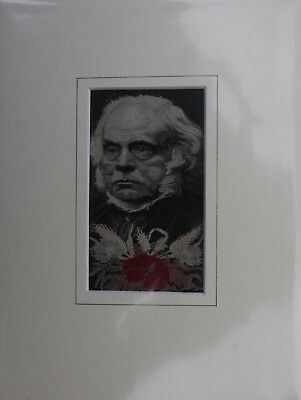 WH Grant Silk Woven (stevengraph) Picture John Bright MP Made in 1890s