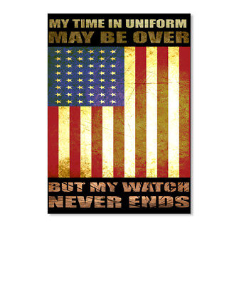 aa9b250a215 My Watch Never Ends Frontnew Time In Uniform May Be Over But Sticker -  Portrait
