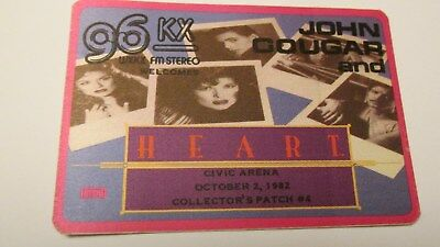 Heart Dated  1982 Concert  Collectors Stick On Patch  ( Ultra Rare )