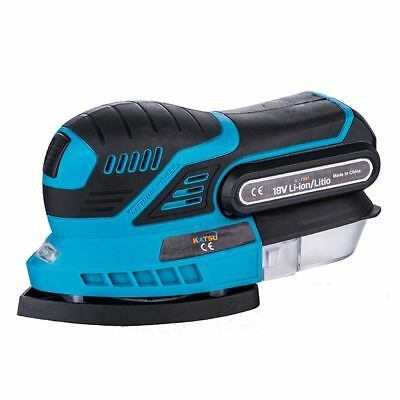 KATSU 102820 Cordless Sander 18V 2.0Ah Include 1 Battery and Fast Charger