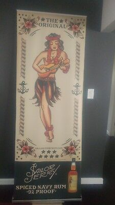 Sailor Jerry Spiced Rum Retractable Roll Up Banner