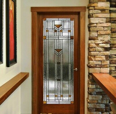 Beautiful Stained Glass ( Praire / Misson )  designer Interior Door
