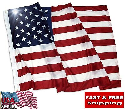 3' X 5' FT High Quality Heavy Duty Superknit Polyester Hand Printed US Flag