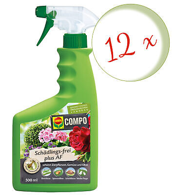 Sparset: 12 x COMPO Schädlings-frei Plus AF, 500 ml