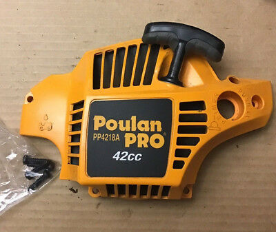 Poulan Pro Chainsaw 42cc PP4218A Side Cover With Recoil Starter Assembly, Screws